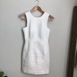 H&M white silver threaded dress with pockets 4